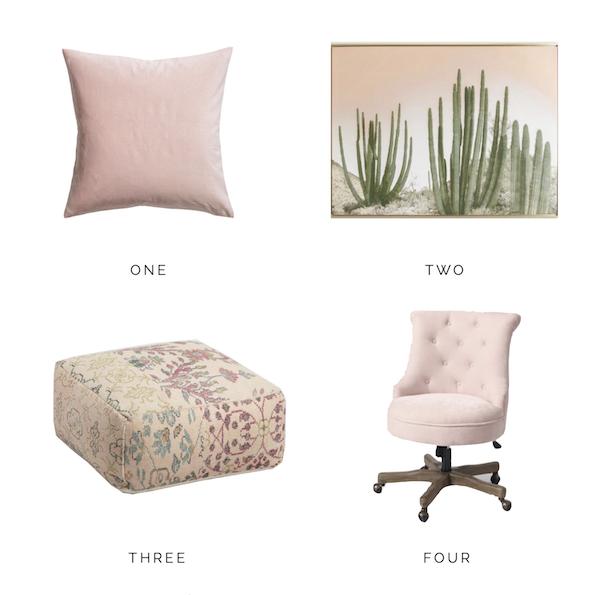 blush pink home decor hello allison. Black Bedroom Furniture Sets. Home Design Ideas
